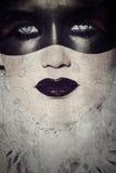 Grunge gothic masked beauty stock illustration