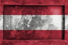 Grunge gothic rock frame with blending  Austria flag Royalty Free Stock Photo