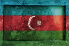 Grunge gothic rock frame with blending  Azerbaijan flag Royalty Free Stock Photos