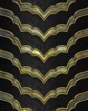 Grunge gouden achtergrond met zwarte decoratie Element voor ontwerp Malplaatje voor ontwerp exemplaarruimte voor advertentiebroch Royalty-vrije Stock Foto