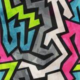Grunge graffiti seamless pattern Stock Images