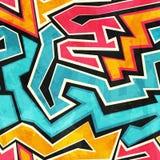 Grunge graffiti seamless texture Stock Photo