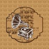 Grunge gramophone Stock Images