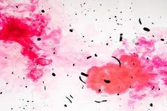 Grunge granoso negro del color abstracto hermoso de la textura en fondo negro del modelo de la pared y el papel pintado rojos y b imagen de archivo libre de regalías