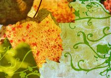 Free Grunge Grape Vine Leaf Royalty Free Stock Photo - 2767985