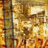 Grunge graphic abstract background. With film digital Stock Photo