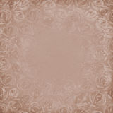 Grunge gray beige background. With roses. Space for text Royalty Free Stock Image
