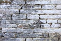 Grunge gray bricks texture wall stock image