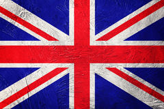 Grunge Great Britain flag. Union Jack flag with grunge texture. Royalty Free Stock Image