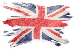 Grunge Great Britain flag. Union Jack flag with grunge texture. Brush stroke. Brush stroke Flag stock illustration