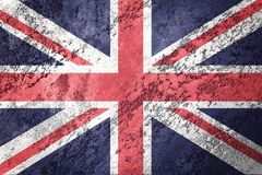 Grunge Great Britain flag. Union Jack flag with grunge texture. Stock Photography