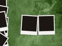 Grunge green background. Blank photos on a grunge green background Royalty Free Stock Photos