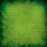 Grunge green background with ancient digital ornament Stock Photography