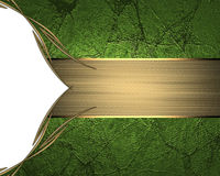 Grunge green background with cutout. Element for design. Template for design. copy space for ad brochure or announcement invitatio Royalty Free Stock Image