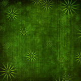 Grunge green background with ornament Stock Photo