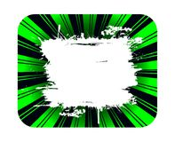 Grunge green background and white banner Royalty Free Stock Photos