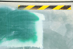 Grunge Green Background with Yellow Striping Royalty Free Stock Images