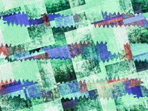 Grunge green and blue geometric textured background stock illustration