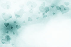 Grunge green colored hearts background Royalty Free Stock Photo