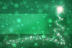 Grunge green colored shooting star copy space background Royalty Free Stock Photography