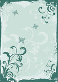 Grunge green floral background Stock Image