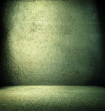 Grunge green interior. Royalty Free Stock Image