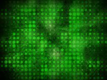 Grunge green light dots Stock Photos
