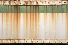 Grunge green metal plate Royalty Free Stock Images