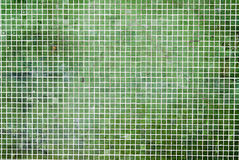 Grunge Green mosaic tiles background Royalty Free Stock Photo