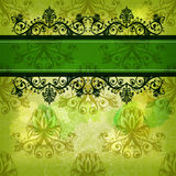Grunge green retro greeting card Royalty Free Stock Photo