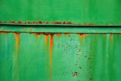 Grunge green rusty metal with angle bar Royalty Free Stock Photography
