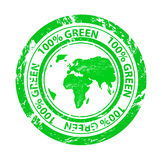 Grunge green  stamp Stock Images