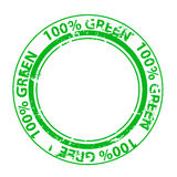 Grunge green  stamp Stock Photography