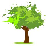 Grunge green tree Royalty Free Stock Photos