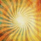 Grunge green and yellow vintage sunburst swirl, twirl background Stock Photography