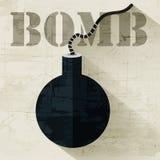 Grunge grenede ikony tła militarny pojęcie Zdjęcia Stock