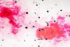 Grunge grenu noir de belle couleur abstraite de texture sur le fond noir de modèle de mur et le papier peint rouges et blancs d'a photo stock