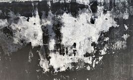 Grunge grey and black color peal wall texture of concrete floor background for creation abstract.