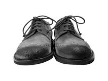 Grunge Grey Suede Shoes Royalty Free Stock Image