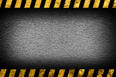 Grunge grey wall background with warning stripes stock illustration