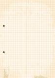 Grunge Grid Paper Sheet. Stock Images