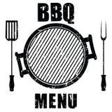Grunge grilla menu odizolowywający na bielu,  Zdjęcie Stock