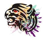 Grunge growling tiger head Royalty Free Stock Image