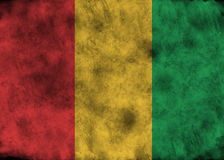 Grunge Guinea flag. royalty free stock photos