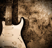 Grunge guitar stock photography