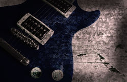 Grunge guitar background Royalty Free Stock Photo