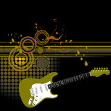 Grunge Guitar Background Stock Photo