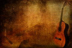 Grunge Guitar background Stock Images