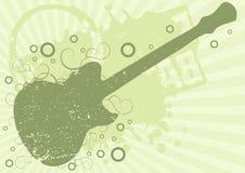 Grunge guitar background. Editable  grunge guitar background Royalty Free Stock Images
