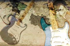 Grunge guitar background texture. Royalty Free Stock Image